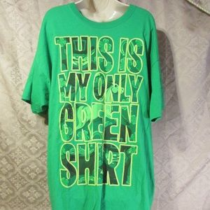 Men 2XL Green T-Shirt St. Patricks Day